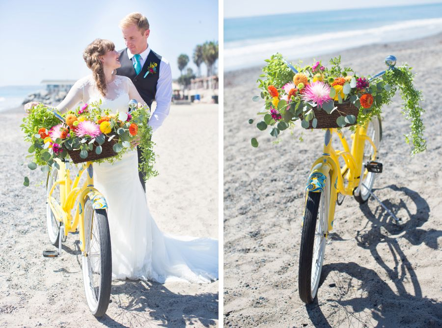 The Casino San Clemente Watercolor Wedding Featured on Artfully Wed