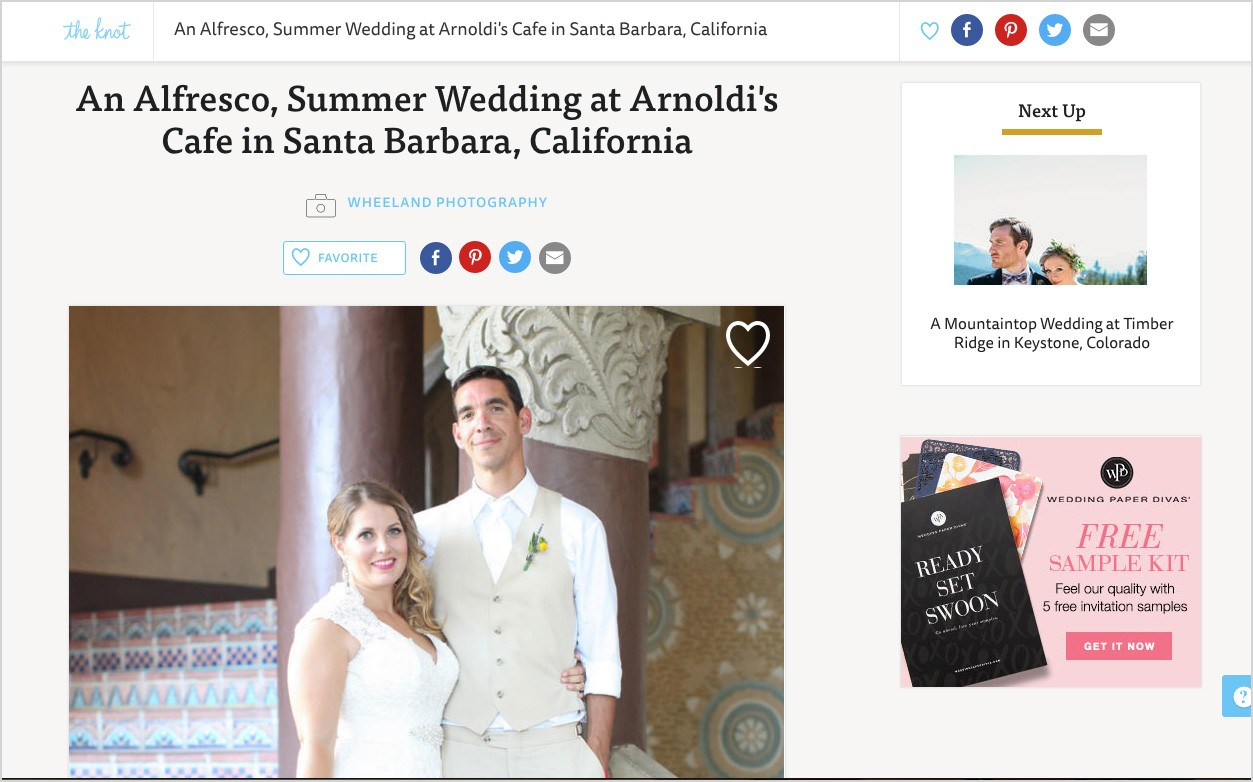 An Alfresco, Summer Wedding at Arnoldi's Cafe in Santa Barbara, California