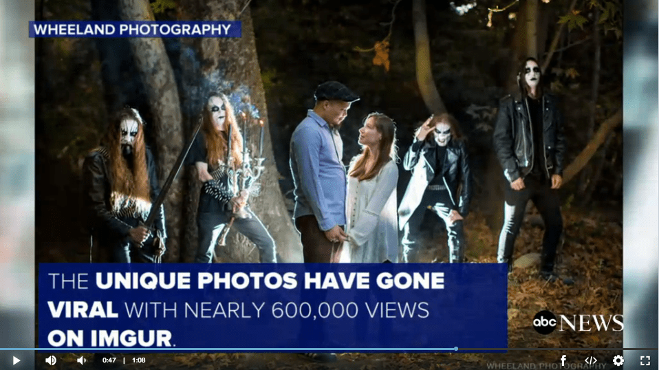Couple Encounters a Black Metal Band in Woods During Engagement Shoot ABC News