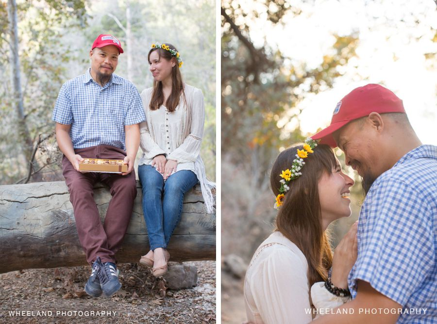 Forrest Gump themed Engagement Photoshoot