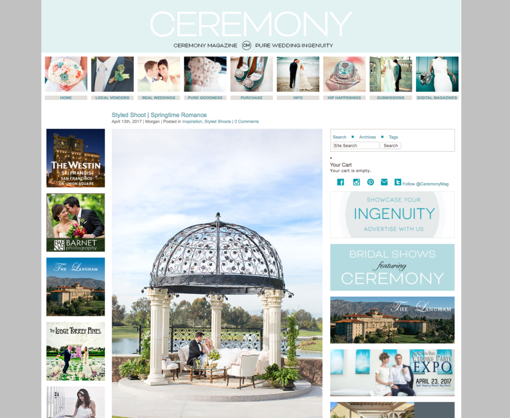 Featured on Ceremony Magazine Blog