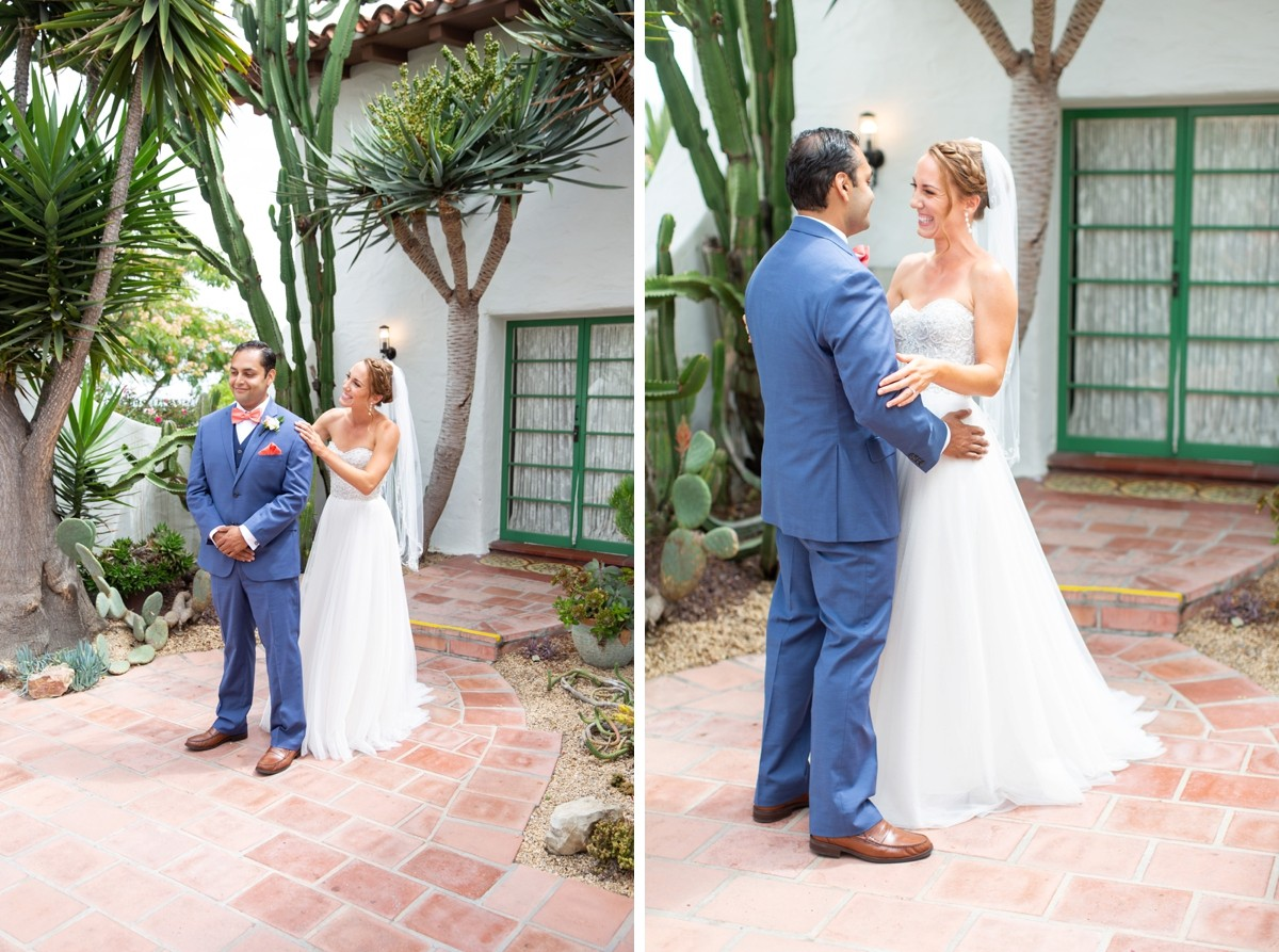 Casa Romantica San Clemente Wedding First Look