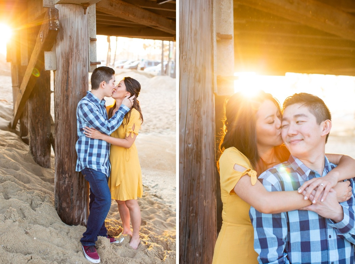 Newport Beach Pier Engagement