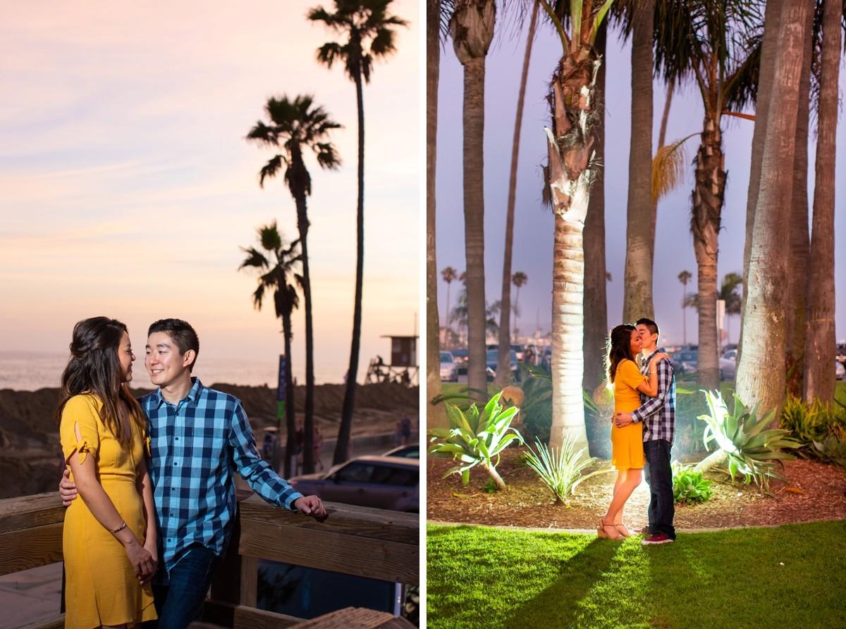 Newport Beach Pier Engagement