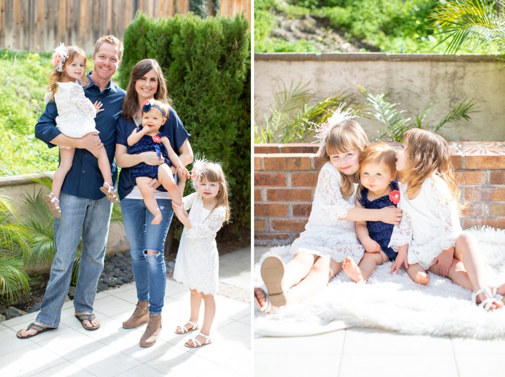 One Year Lifestyle Family Photoshoot Smash Cake