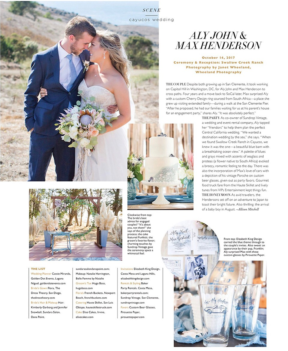 Featured on Modern Luxury Weddings Magazine