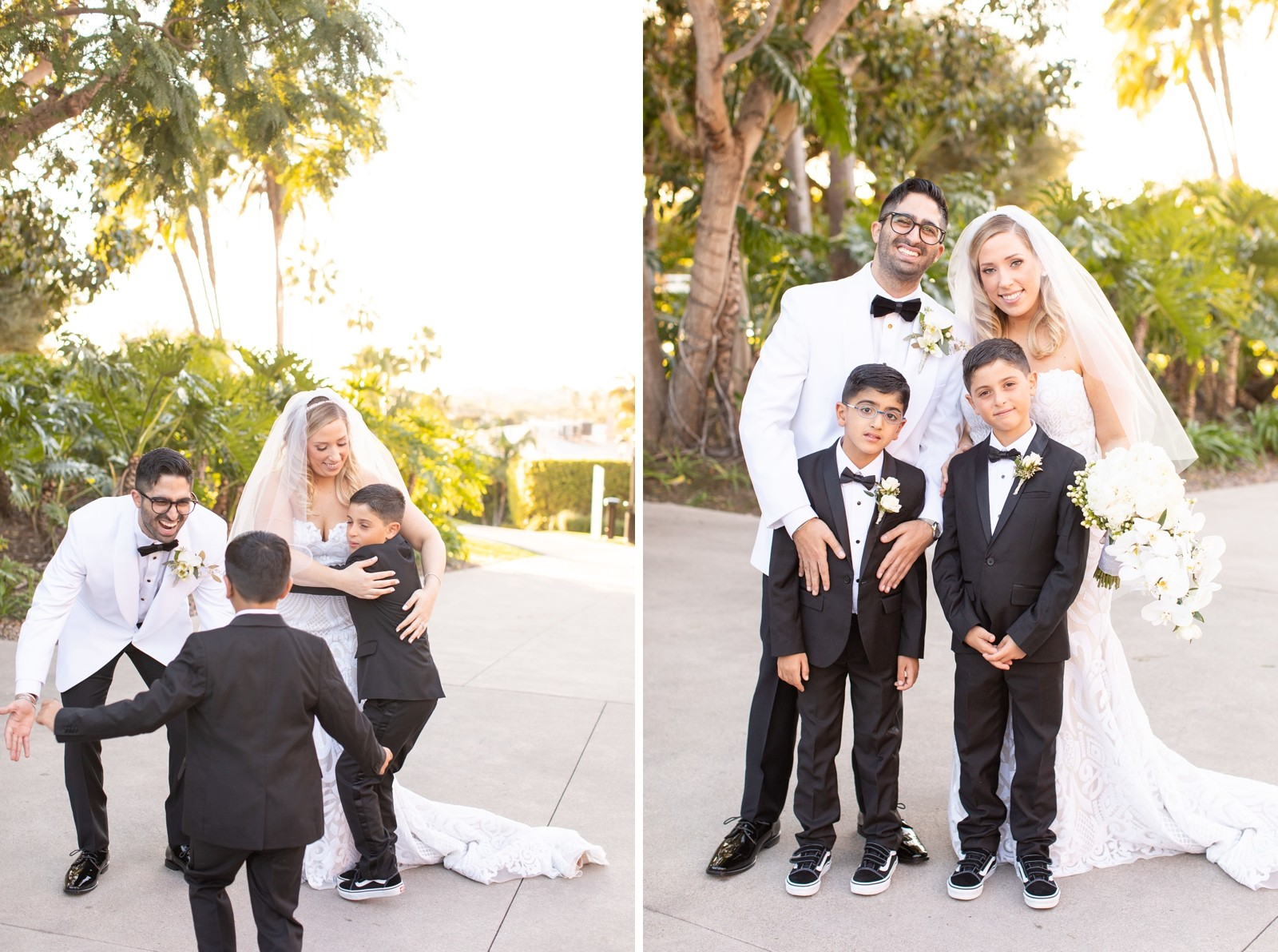 First Look with ring bearers