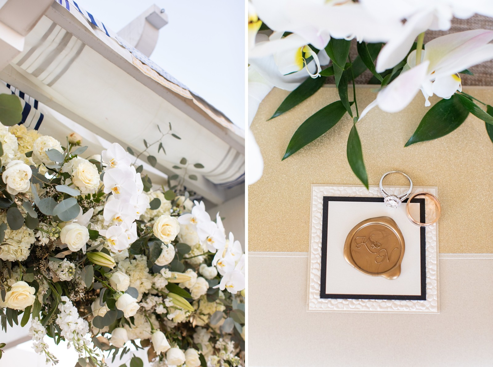white and gold florals by Aifd Cfd