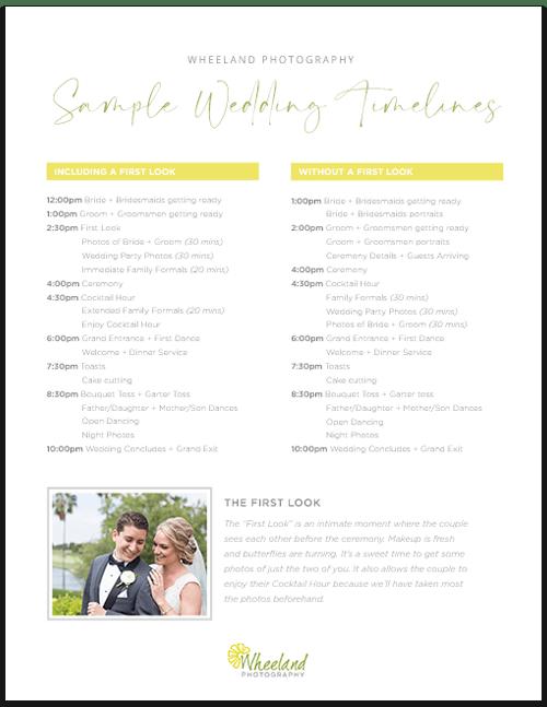 Sample Wedding Timelines