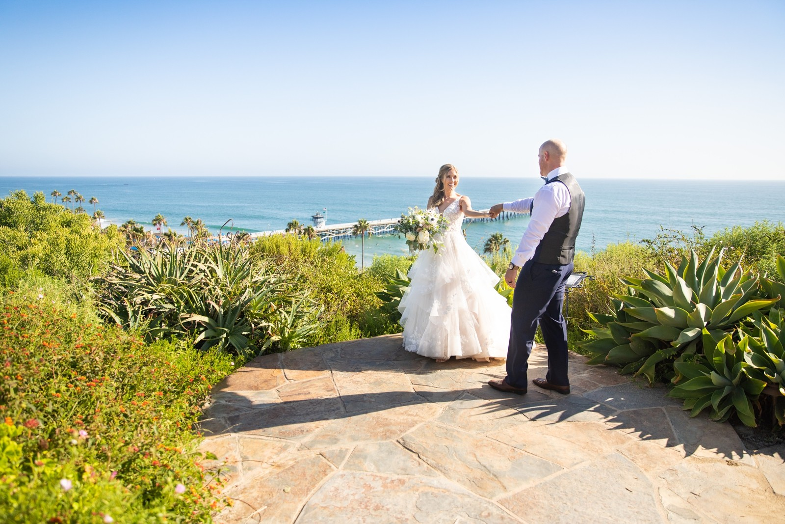 Casa Romantica San Clemente Summer Beach Wedding